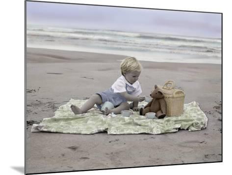 Boy on Beach-Nora Hernandez-Mounted Giclee Print