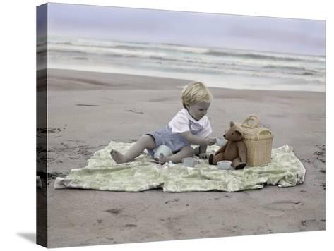 Boy on Beach-Nora Hernandez-Stretched Canvas Print