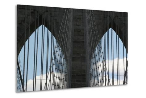 Brooklyn Bridge Cables-Robert Goldwitz-Metal Print