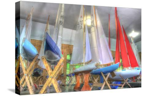 Model Sailboat Clubhouse-Robert Goldwitz-Stretched Canvas Print