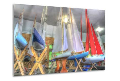 Model Sailboat Clubhouse-Robert Goldwitz-Metal Print
