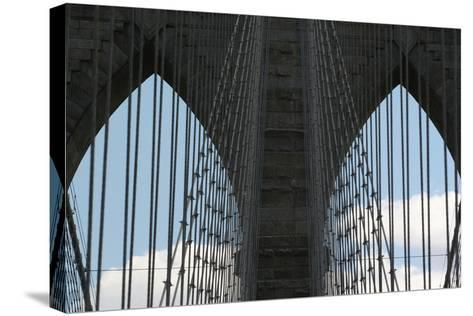 Brooklyn Bridge Cables-Robert Goldwitz-Stretched Canvas Print