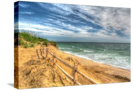 Truro Breach and Fence-Robert Goldwitz-Stretched Canvas Print
