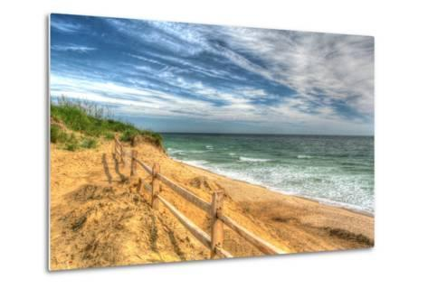 Truro Breach and Fence-Robert Goldwitz-Metal Print