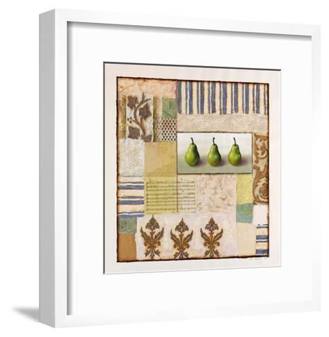 Three Standing Pears-Rachel Paxton-Framed Art Print