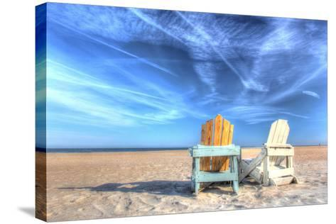 Two Chairs on the Beach-Robert Goldwitz-Stretched Canvas Print