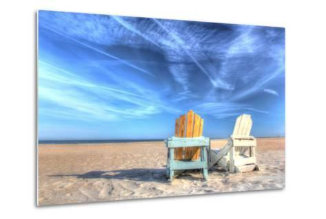 Two Chairs on the Beach-Robert Goldwitz-Metal Print