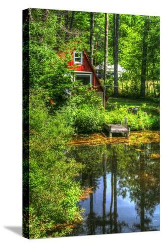 Pond Vertical with a Frame-Robert Goldwitz-Stretched Canvas Print