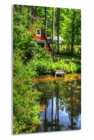 Pond Vertical with a Frame-Robert Goldwitz-Metal Print