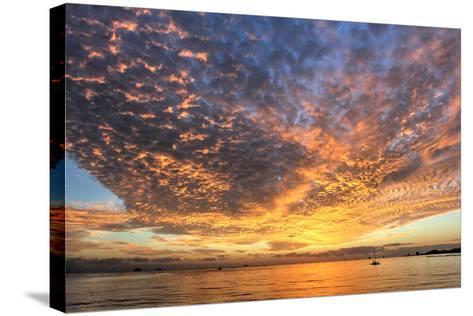 Key West Hobie Sunset-Robert Goldwitz-Stretched Canvas Print