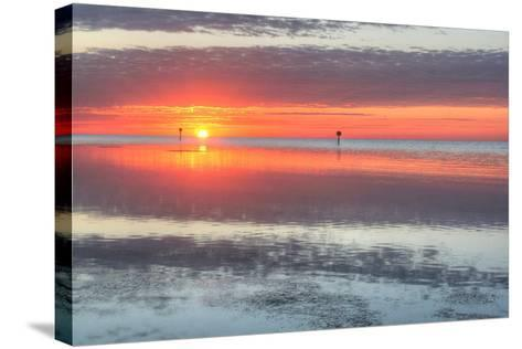 Key West Sunrise III-Robert Goldwitz-Stretched Canvas Print