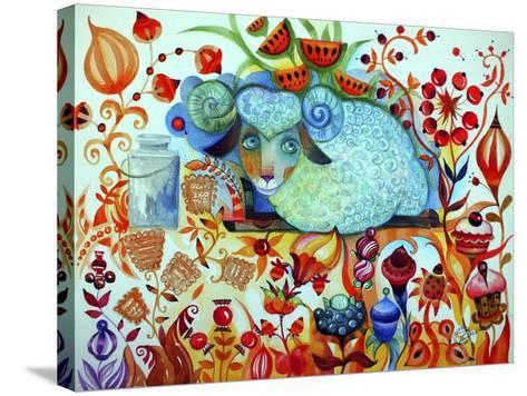 Candy Sheep-Oxana Zaika-Stretched Canvas Print