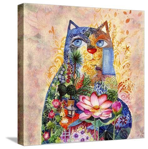 Lotus Cat-Oxana Zaika-Stretched Canvas Print
