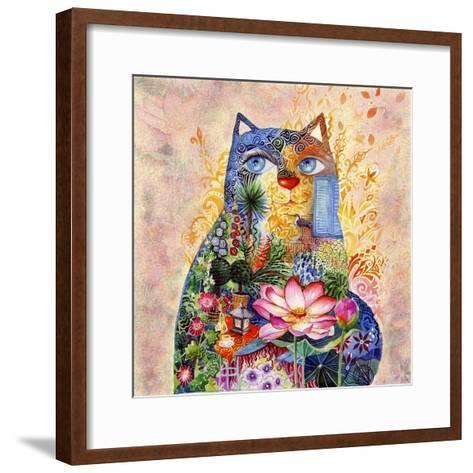 Lotus Cat-Oxana Zaika-Framed Art Print