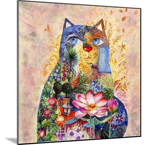 Lotus Cat-Oxana Zaika-Mounted Giclee Print