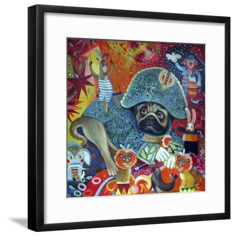 Circus Pug-Oxana Zaika-Framed Art Print
