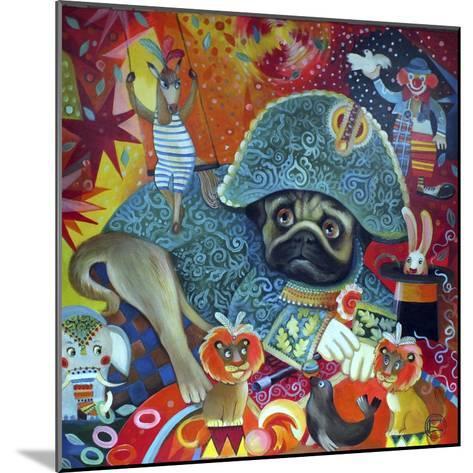 Circus Pug-Oxana Zaika-Mounted Giclee Print
