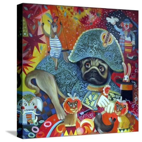 Circus Pug-Oxana Zaika-Stretched Canvas Print