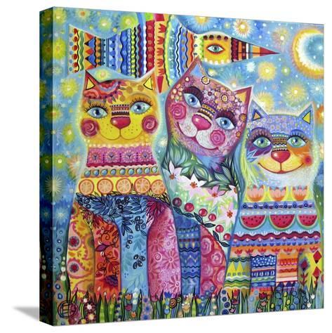 Deco Cats-Oxana Zaika-Stretched Canvas Print