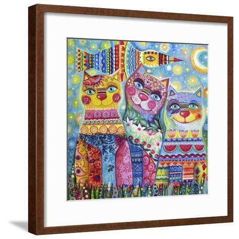 Deco Cats-Oxana Zaika-Framed Art Print