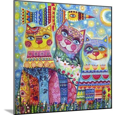 Deco Cats-Oxana Zaika-Mounted Giclee Print