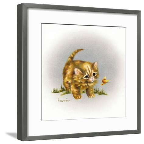 Fraidy Cat-Peggy Harris-Framed Art Print