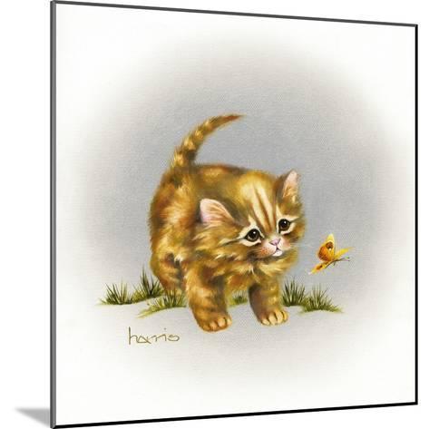 Fraidy Cat-Peggy Harris-Mounted Giclee Print