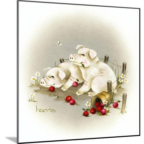 Piggin' Out-Peggy Harris-Mounted Giclee Print