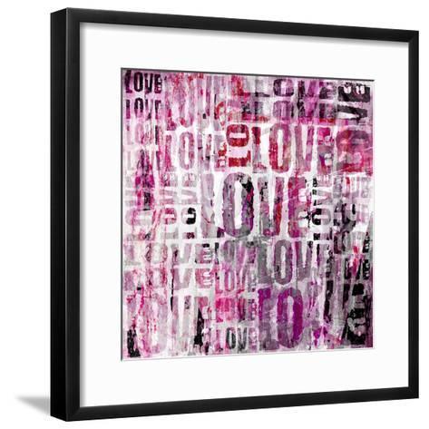 Grunge Love Square-Roseanne Jones-Framed Art Print
