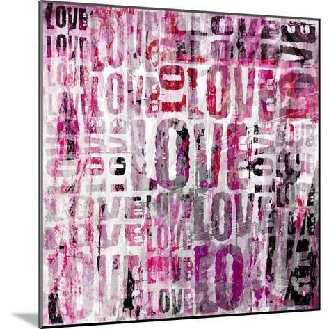 Grunge Love Square-Roseanne Jones-Mounted Giclee Print