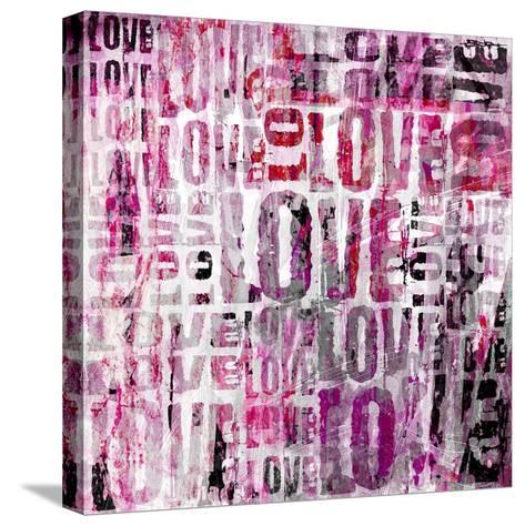 Grunge Love Square-Roseanne Jones-Stretched Canvas Print