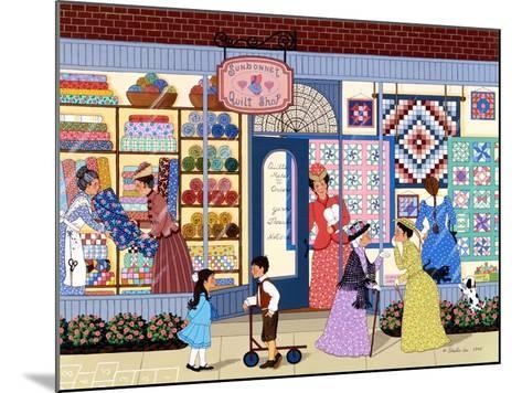Sunbonnet Quilt Shop-Sheila Lee-Mounted Giclee Print