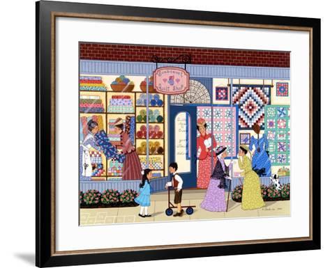 Sunbonnet Quilt Shop-Sheila Lee-Framed Art Print