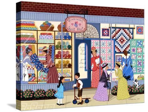 Sunbonnet Quilt Shop-Sheila Lee-Stretched Canvas Print