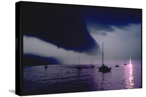 Storm over Hook Mountain-Robert Goldwitz-Stretched Canvas Print