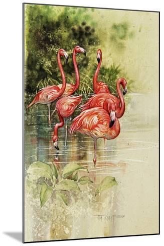 Flamingo Paper-Tim Knepp-Mounted Giclee Print