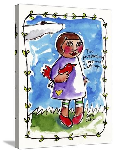 Watercolour Planet - Me and My Lovebird #2-Sara Catena-Stretched Canvas Print