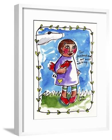 Watercolour Planet - Me and My Lovebird #2-Sara Catena-Framed Art Print