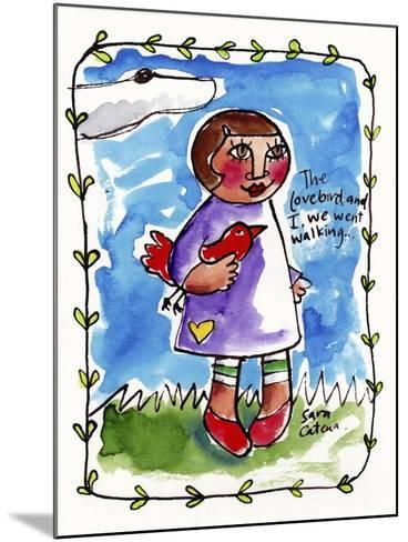 Watercolour Planet - Me and My Lovebird #2-Sara Catena-Mounted Giclee Print