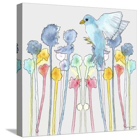 Wildflowers with Bird-Tammy Kushnir-Stretched Canvas Print