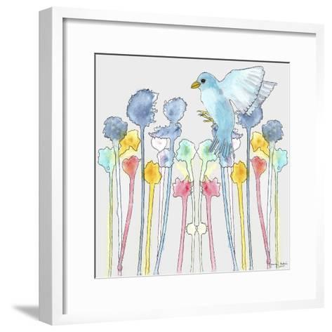 Wildflowers with Bird-Tammy Kushnir-Framed Art Print