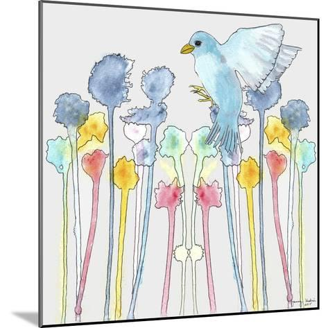 Wildflowers with Bird-Tammy Kushnir-Mounted Giclee Print