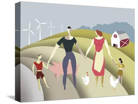 D 4 Iyff Farm-Sergio Baradat-Stretched Canvas Print
