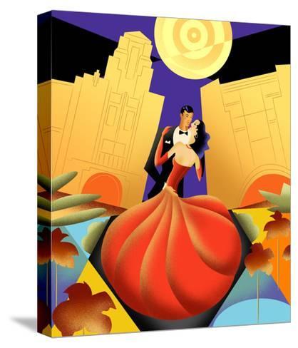 Deco Couple Ca-Sergio Baradat-Stretched Canvas Print