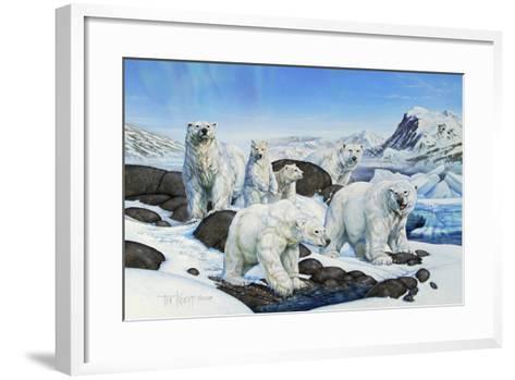 Polar Bears-Tim Knepp-Framed Art Print