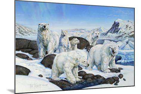 Polar Bears-Tim Knepp-Mounted Giclee Print