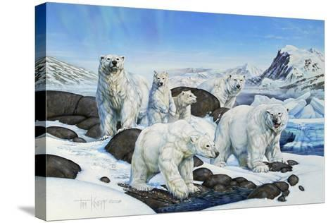 Polar Bears-Tim Knepp-Stretched Canvas Print