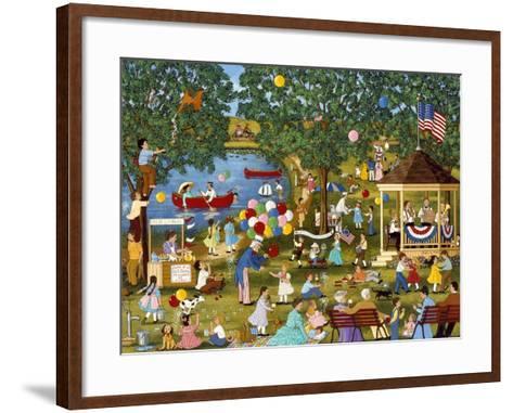 Fourth of July Lake-Sheila Lee-Framed Art Print