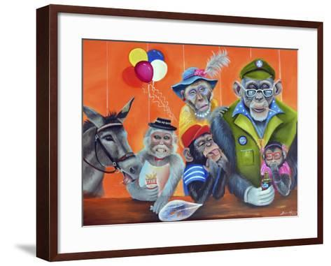 Cheeky Monkey-Sue Clyne-Framed Art Print