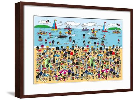 Toy Soldiers - Beach-The Paper Stone-Framed Art Print